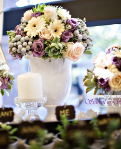 Cream & Purple wedding
