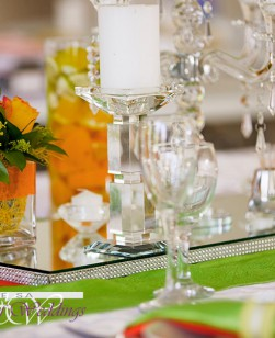 Orange & Green Wedding