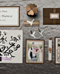 Cream & Brown Invite set