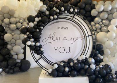 Black & White Balloon Art Installation